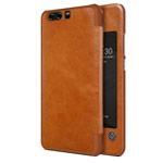 Чехол Nillkin Qin leather case для Huawei P10 plus (коричневый, кожаный)