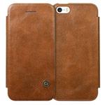 Чехол G-Case Business Series для Apple iPhone SE (коричневый, кожаный)