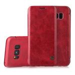 Чехол G-Case Business Series для Samsung Galaxy S8 (красный, кожаный)