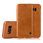 Чехол G-Case Business Series для Samsung Galaxy S8 plus (коричневый, кожаный)