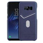 Чехол G-Case Jazz Series для Samsung Galaxy S8 (синий, кожаный)