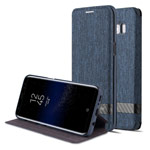 Чехол G-Case Funky Series для Samsung Galaxy S8 (синий, матерчатый)