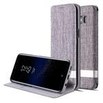 Чехол G-Case Funky Series для Samsung Galaxy S8 (серый, матерчатый)