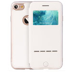 Чехол G-Case Sense Series для Apple iPhone 7 (белый, кожаный)