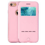 Чехол G-Case Sense Series для Apple iPhone 7 (розовый, кожаный)