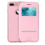 Чехол G-Case Sense Series для Apple iPhone 7 plus (розовый, кожаный)