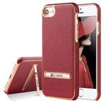 Чехол G-Case Plating Series для Apple iPhone 7 (красный, кожаный)