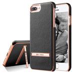 Чехол G-Case Plating Series для Apple iPhone 7 plus (черный, кожаный)