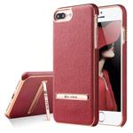 Чехол G-Case Plating Series для Apple iPhone 7 plus (красный, кожаный)