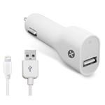 Зарядное устройство Dexim USB Car Charger для Apple iPad/iPhone/iPod (USB Lightning cable, автомобильное)