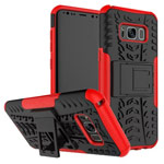Чехол Yotrix Shockproof case для Samsung Galaxy S8 plus (красный, пластиковый)