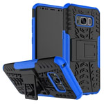 Чехол Yotrix Shockproof case для Samsung Galaxy S8 plus (синий, пластиковый)