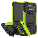 Чехол Yotrix Shockproof case для Samsung Galaxy S8 plus (зеленый, пластиковый)