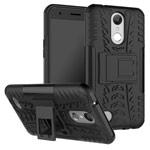 Чехол Yotrix Shockproof case для LG K10 2017 (черный, пластиковый)