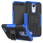 Чехол Yotrix Shockproof case для LG K10 2017 (синий, пластиковый)