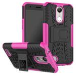 Чехол Yotrix Shockproof case для LG K10 2017 (розовый, пластиковый)