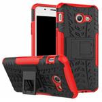 Чехол Yotrix Shockproof case для Samsung Galaxy J7 2017 (красный, пластиковый)