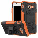 Чехол Yotrix Shockproof case для Samsung Galaxy J7 2017 (оранжевый, пластиковый)