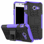 Чехол Yotrix Shockproof case для Samsung Galaxy J7 2017 (фиолетовый, пластиковый)