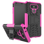 Чехол Yotrix Shockproof case для LG G6 (розовый, пластиковый)