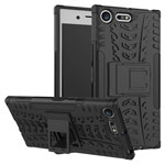 Чехол Yotrix Shockproof case для Sony Xperia XZ premium (черный, пластиковый)