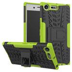 Чехол Yotrix Shockproof case для Sony Xperia XZ premium (зеленый, пластиковый)