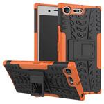 Чехол Yotrix Shockproof case для Sony Xperia XZ premium (оранжевый, пластиковый)