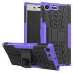 Чехол Yotrix Shockproof case для Sony Xperia XZ premium (фиолетовый, пластиковый)