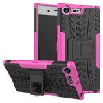 Чехол Yotrix Shockproof case для Sony Xperia XZ premium (розовый, пластиковый)