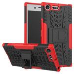 Чехол Yotrix Shockproof case для Sony Xperia XZ premium (красный, пластиковый)