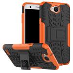 Чехол Yotrix Shockproof case для LG X power 2 (оранжевый, пластиковый)