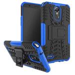 Чехол Yotrix Shockproof case для LG Stylus 3 (синий, пластиковый)