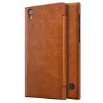 Чехол Nillkin Qin leather case для Sony Xperia L1 (коричневый, кожаный)