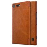 Чехол Nillkin Qin leather case для Sony Xperia XZ premium (коричневый, кожаный)
