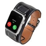 Ремешок для часов Kakapi Cuff Band для Apple Watch (42 мм, черный, кожаный)