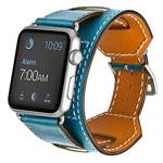 Ремешок для часов Kakapi Cuff Band для Apple Watch (42 мм, голубой, кожаный)