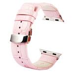 Ремешок для часов Kakapi Watch Strap Set для Apple Watch (42 мм, розовый, кожаный)