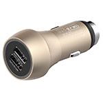 Зарядное устройство Devia Hammer QC 3.0 Car Charger универсальное (автомобильное, 3A, Fast Charge, 2xUSB, золотистое)