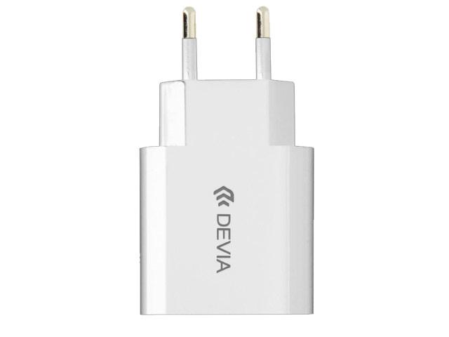 Зарядное устройство Devia Smart Charger универсальное (сетевое, 2.4A, USB, белое)