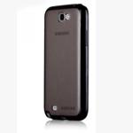 Чехол Momax iCase Pro для Samsung Galaxy Note 2 N7100 (черный, гелевый/пластиковый)
