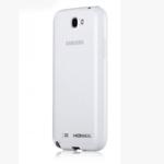 Чехол Momax iCase Pro для Samsung Galaxy Note 2 N7100 (белый, гелевый/пластиковый)