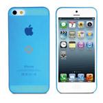 Чехол Dexim AOU Fashion для Apple iPhone 5 (голубой, гелевый)
