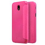 Чехол Nillkin Sparkle Leather Case для Samsung Galaxy J7 2017 (розовый, винилискожа)