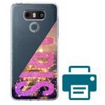 Печать на чехле для LG G6 (прозрачный, пластиковый)