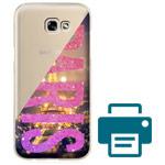 Печать на чехле для Samsung Galaxy A3 2017 (прозрачный, пластиковый)