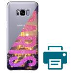 Печать на чехле для Samsung Galaxy S8 (прозрачный, пластиковый)