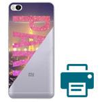 Печать на чехле для Xiaomi Mi 5s (прозрачный, пластиковый)