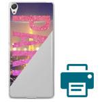 Печать на чехле для Sony Xperia XA (прозрачный, пластиковый)