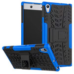 Чехол Yotrix Shockproof case для Sony Xperia XA1 ultra (синий, пластиковый)
