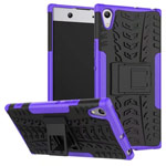 Чехол Yotrix Shockproof case для Sony Xperia XA1 ultra (фиолетовый, пластиковый)